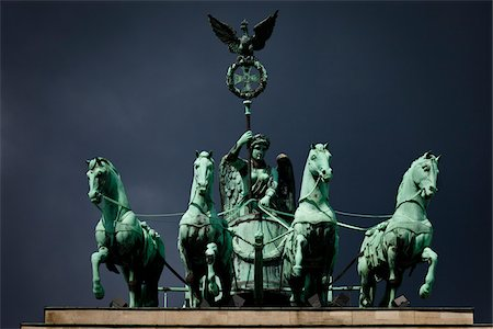 Quadriga atop Brandenburg Gate, Berlin, Germany Stock Photo - Rights-Managed, Code: 700-05642485