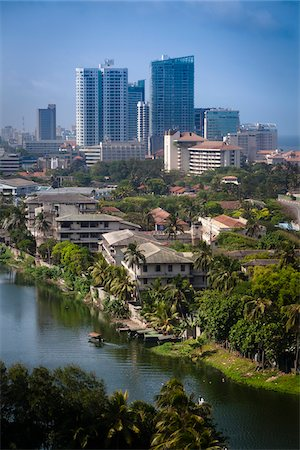 Overview of Beira Lake Looking Towards Kollupitiya, Colombo, Sri Lanka Stock Photo - Rights-Managed, Code: 700-05642542