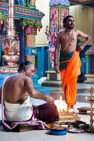 flame - Adi Puram Ceremony at Hindu Temple, Colombo, Sri Lanka Stock Photo - Rights-Managed, Code: 700-05642556