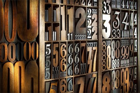 print - Letterpress Numbers Stock Photo - Rights-Managed, Code: 700-05656514