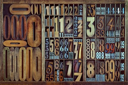 print - Letterpress Numbers Stock Photo - Rights-Managed, Code: 700-05656515