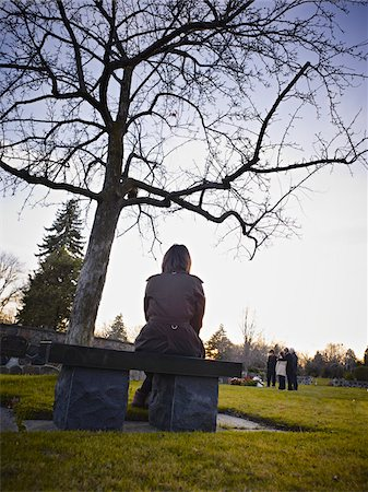 preteens pictures older men - Family Grieving in Cemetery Stock Photo - Rights-Managed, Code: 700-05656535
