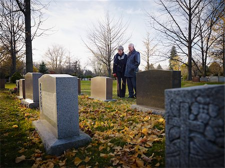 dead woman - Couple Grieving in Cemetery Stock Photo - Rights-Managed, Code: 700-05656531