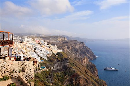 santorini island - Overview of Thira, Santorini Island, Greece Stock Photo - Rights-Managed, Code: 700-05653095