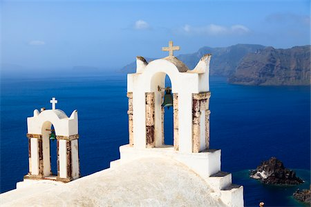 Bell Towers, Oia, Santorini Island, Greece Stock Photo - Rights-Managed, Code: 700-05653100