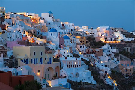 View of Oia, Santorini Island, Greece Stock Photo - Rights-Managed, Code: 700-05653116