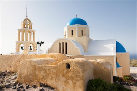 Church and Bell Tower, Oia, Santorini Island, Greece Stock Photo - Rights-Managed, Code: 700-05653118