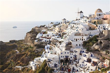 View of Oia, Santorini Island, Greece Stock Photo - Rights-Managed, Code: 700-05653110