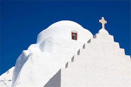 Church of Panagia Paraportiani, Chora, Mykonos Town, Mykonos, Cyclades Islands, Greece Stock Photo - Rights-Managed, Code: 700-05653126