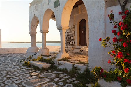Church at Sunset, Parikia, Paros, Cyclades Islands, Greece Stock Photo - Rights-Managed, Code: 700-05653123