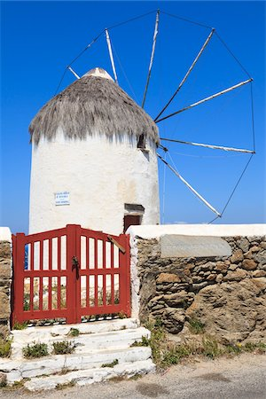 Windmill, Mykonos Town, Mykonos, Cyclades Islands, Greece Stock Photo - Rights-Managed, Code: 700-05653136