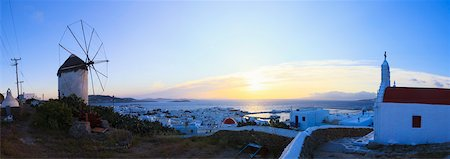 Overview of Chora, Mykonos Town, Mykonos, Cyclades Islands, Greece Stock Photo - Rights-Managed, Code: 700-05653139