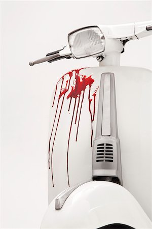 dripping blood - Blood on White Scooter Stock Photo - Rights-Managed, Code: 700-05653227