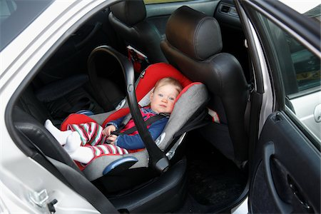 Baby Girl in Car Seat Stock Photo - Rights-Managed, Code: 700-05662371