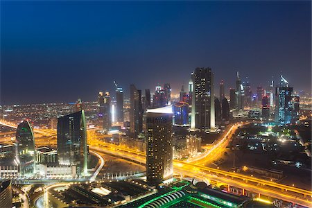 Overview of Dubat at Night, Dubai, United Arab Emirates Stock Photo - Rights-Managed, Code: 700-05756152