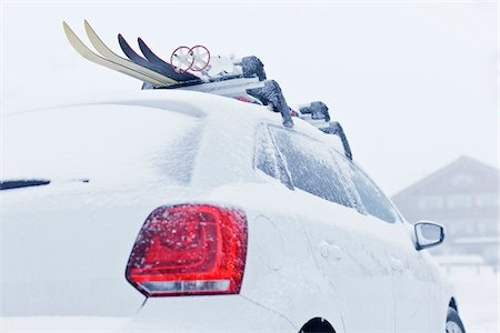 Skis on Roof Rack, Sulzberg, Bregenz, Austria Stock Photo - Rights-Managed, Code: 700-05756231