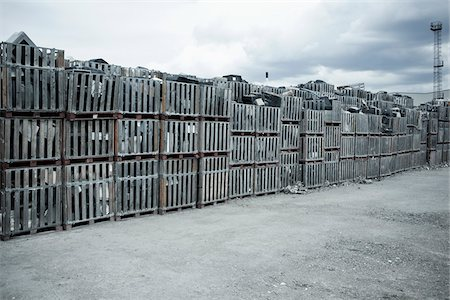 Crates of Discarded Computers at Recycling Factory, Liverpool, England Stock Photo - Rights-Managed, Code: 700-05756337