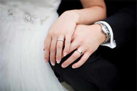 ring hand woman - Close-Up of Bride and Groom's Hands Stock Photo - Rights-Managed, Code: 700-05756384