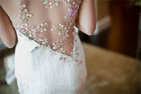 floral pattern - Detail of Back of Bride's Gown Stock Photo - Rights-Managed, Code: 700-05756381