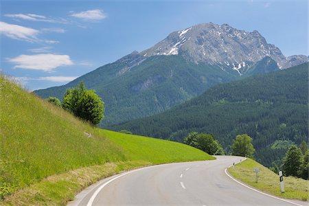 View of Watzmann Mountain from Deutsche Alpenstrasse, Berchtesgaden, Upper Bavaria, Germany Stock Photo - Rights-Managed, Code: 700-05762056