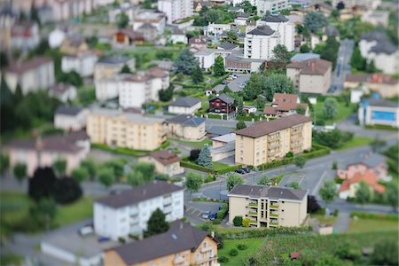 Overview of Houses, Martigny, Valais, Switzerland Stock Photo - Rights-Managed, Code: 700-05762062