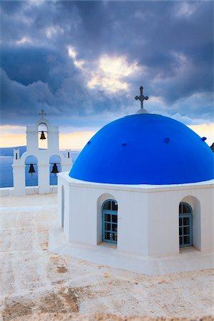 santorini - Church, Thira, Santorini Island, Greece Stock Photo - Rights-Managed, Code: 700-05786234
