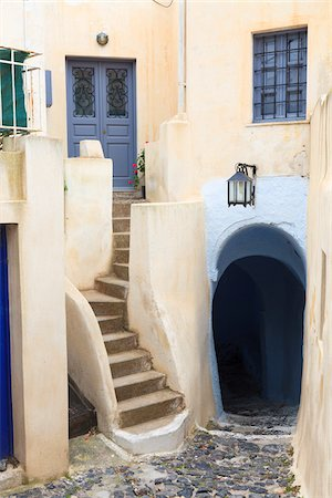 House Exterior, Pirgos, Santorini Island, Greece Stock Photo - Rights-Managed, Code: 700-05786235