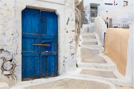 Doors, Pirgos, Santorini Island, Greece Stock Photo - Rights-Managed, Code: 700-05786237