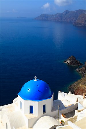 Church, Oia, Santorini Island, Greece Stock Photo - Rights-Managed, Code: 700-05786245