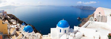 santorini - Panoramic View of Oia, Santorini Island, Greece Stock Photo - Rights-Managed, Code: 700-05786246