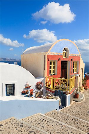 Houses in Oia, Santorini Island, Greece Stock Photo - Rights-Managed, Code: 700-05786249