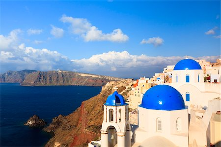 Overlooking Aegean Sea, Oia, Santorini Island, Greece Stock Photo - Rights-Managed, Code: 700-05786240