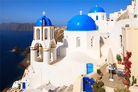 Church, Oia, Santorini Island, Greece Stock Photo - Rights-Managed, Code: 700-05786242