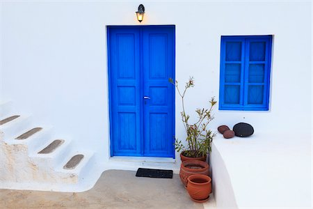 House Exterior, Oia, Santorini Island, Greece Stock Photo - Rights-Managed, Code: 700-05786250