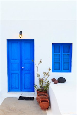 House Exterior, Oia, Santorini Island, Greece Stock Photo - Rights-Managed, Code: 700-05786251