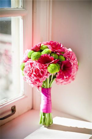 Wedding Bouquet on Window Sill Stock Photo - Rights-Managed, Code: 700-05786445