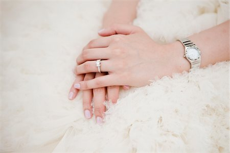 ring hand woman - Close-Up of Bride's Folded Hands Stock Photo - Rights-Managed, Code: 700-05786440