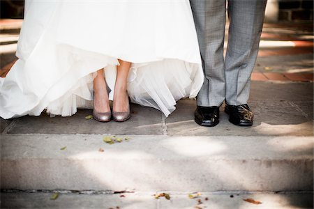 Close-Up of Bride and Groom's Feet Stock Photo - Rights-Managed, Code: 700-05786443