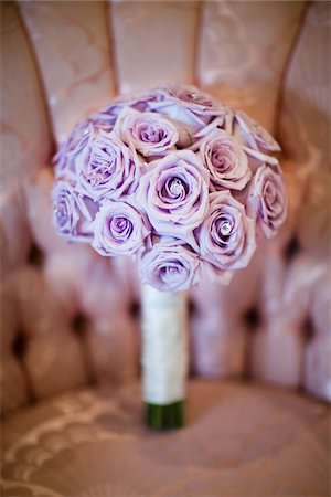 Bouquet of Purple Flowers on Chair Stock Photo - Rights-Managed, Code: 700-05786457
