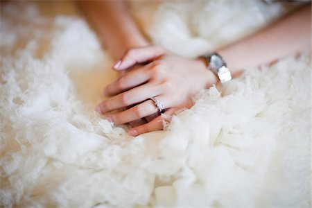 ring hand woman - Close-Up of Bride's Hands Stock Photo - Rights-Managed, Code: 700-05786458