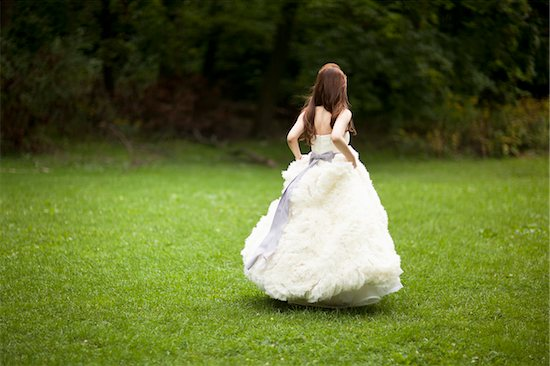 Bride Walking Outdoors Stock Photo - Premium Rights-Managed, Artist: Ikonica, Image code: 700-05786459