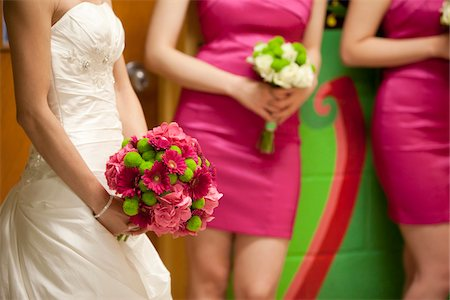 dress - Bride with Bridesmaids Stock Photo - Rights-Managed, Code: 700-05786452
