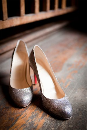 sparkling - Pair of Silver Shoes Stock Photo - Rights-Managed, Code: 700-05786469