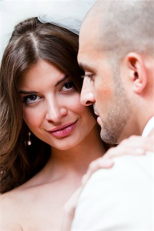 Close-Up of Bride and Groom Stock Photo - Rights-Managed, Code: 700-05786474