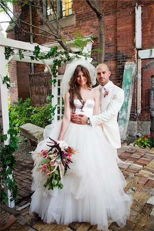 Portrait of Bride and Groom Stock Photo - Rights-Managed, Code: 700-05786473
