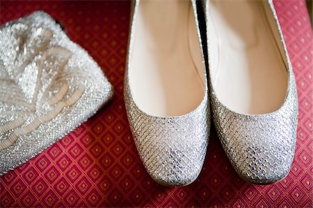 Close-Up of Silver Shoes and Purse Stock Photo - Rights-Managed, Code: 700-05786584
