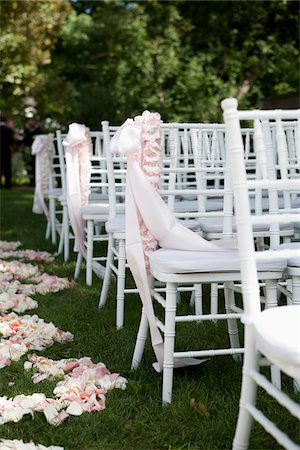 decoration - Chairs Arranged for Wedding Stock Photo - Rights-Managed, Code: 700-05786589