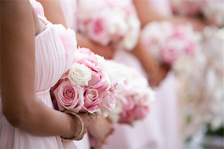 pink - Bridesmaids Standing in Row Stock Photo - Rights-Managed, Code: 700-05786591