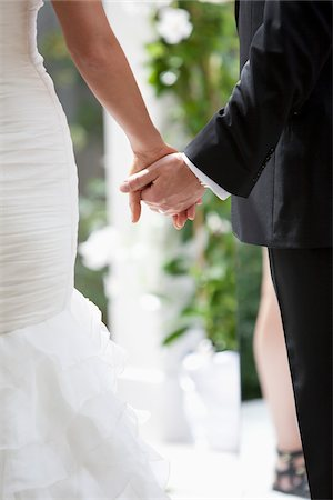 romanticism - Bride and Groom Holding Hands Stock Photo - Rights-Managed, Code: 700-05786593