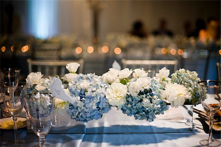 set - Decorated Tables at Wedding Reception Stock Photo - Rights-Managed, Code: 700-05786676